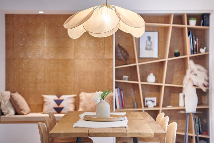 Carré Chroma - Design chaleureux... - ANGLET Agencements sur-mesure Choix décoratifs  autour de la douceur - papier peint, mobilier, éclairage
